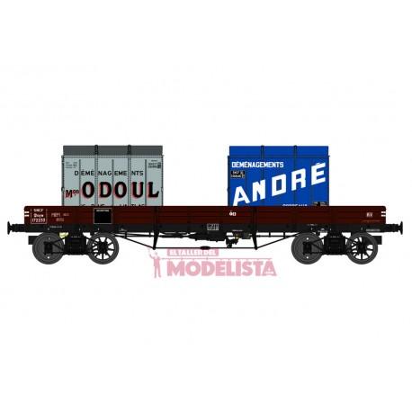 Vagón llano TP con contenedores, SNCF. REE MODELES WB-427