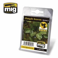 Plantas: hojas de jungla.