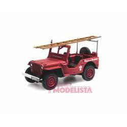Jeep de bomberos con escalera. REE MODELES CB-090
