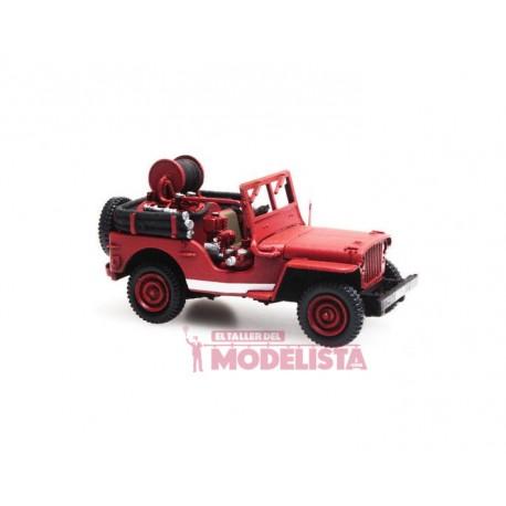 Jeep de bomberos con motobomba. REE MODELES CB-086