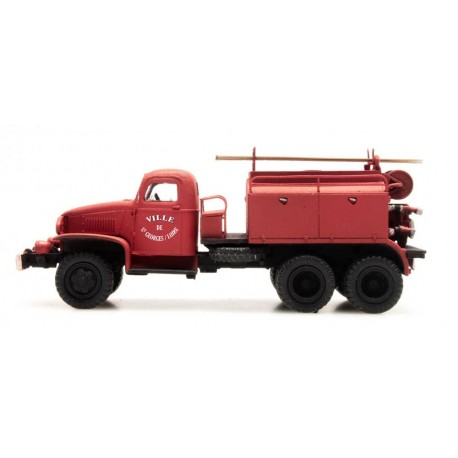 GMC w/ paneled cabin for forest fires. REE MODELES CB-076