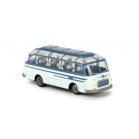 Autobus Setra S 6, azul. BREKINA 56020