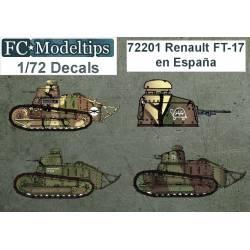 Calcas: FT-17 en España. FCMODELTIPS 72201