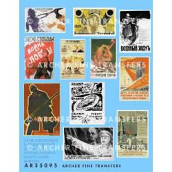 Soviet propaganda posters. ARCHER AR35095