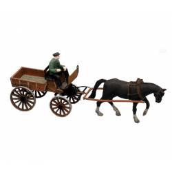 Hombre con carro. Modelo montado. ARTITEC 387.57