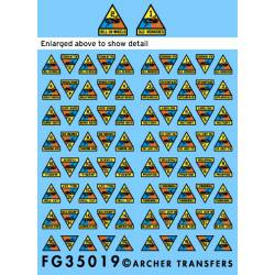 US Armor Division patches. ARCHER FG35019