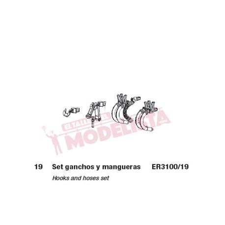Hooks and hoses set. ELECTROTREN ER3100/19