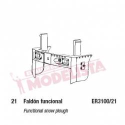 Functional snow plough for 321.