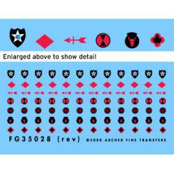 US Infantry Division patches. ARCHER FG35028