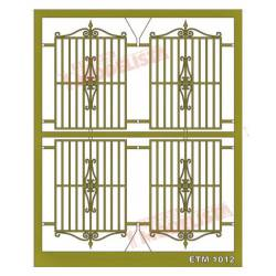 Window grilles (x4). ETM 1012