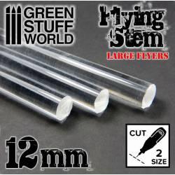 Barras transparentes, 12 mm. GREEN STUFF WORLD 368150