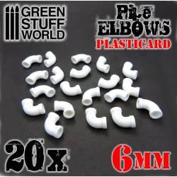 Codos de plasticard, 6 mm. GREEN STUFF WORLD 368181