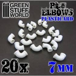 Codos de plasticard, 7 mm. GREEN STUFF WORLD 368198