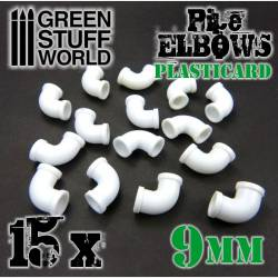 Codos de plasticard, 9 mm. GREEN STUFF WORLD 368204