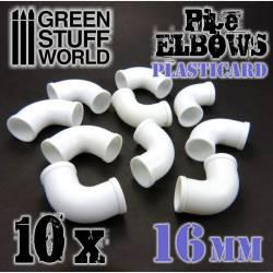 Codos de plasticard, 16 mm. GREEN STUFF WORLD 368211
