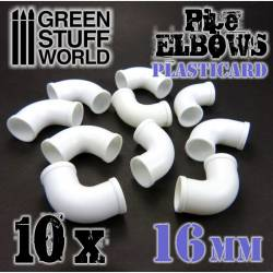 Polystyrene elbows, 16 mm. GREEN STUFF WORLD 368211