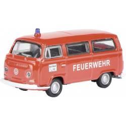 Furgoneta VW T2. Bomberos. SCHUCO 452800800