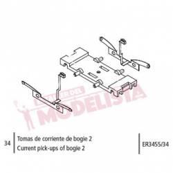 Tomas de corriente de bogie 2 para Civia. ER3455/34