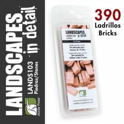 Ladrillos de arcilla. Tamaño 4x9 mm (x390). LANDSCAPES 104
