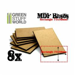 Peanas rectangulares, 75x50 mm (x8). GREEN STUFF WORLD 9140