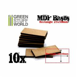 Peanas rectangulares, 25x50 mm (x10). GREEN STUFF WORLD 9141