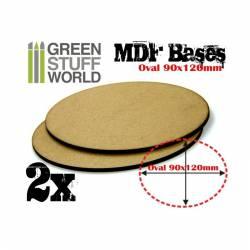 MDF Bases - Oval Pill, 90x120 mm (x2). GREEN STUFF 366811