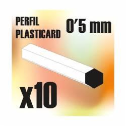 Profile Hexagonal ROD 0'5mm (x10). GREEN STUFF WORLD 9188