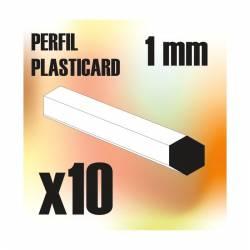 Profile Hexagonal ROD 1mm (x10). GREEN STUFF WORLD 9189