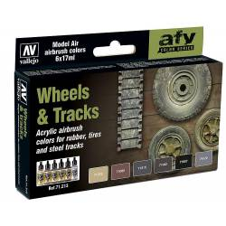 Model Air Set: Wheels and tracks.