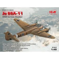 Bombardero alemán Ju 88A-11. ICM 48235