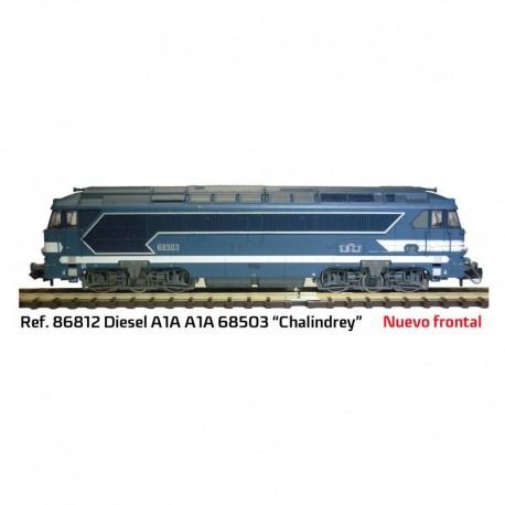 """Locomotora diésel A1A """"Chalindrey"""". MABAR 86812"""