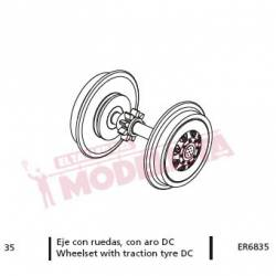 Wheel with traction tyre, DC, for RENFE 353/354.