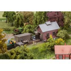 Light railway engine shed. FALLER 120280