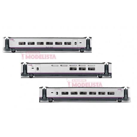 AVE S-100 coaches set, RENFE. ELECTROTREN 3520