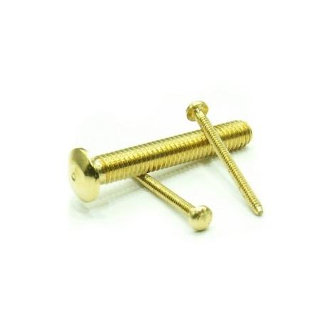 Brass Mini dome Head Bolt, M1,2 (x50). RB 003-23