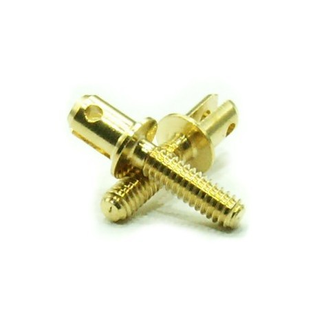Brass Double Rigging Clevis, M2,5 (x20). RB 045-2511