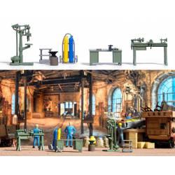 Workshop equipment.