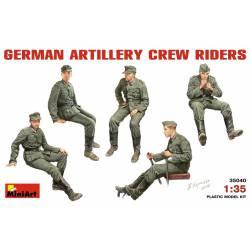 Dotación de artillería alemana.