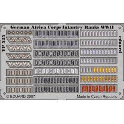 German Africa Corps Infantry Ranks WWII.