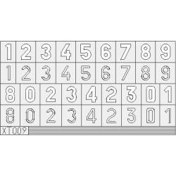 Masking: German numbers, large size.