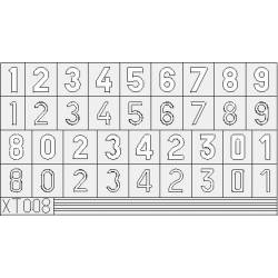 Masking: German numbers, medium size. EDUARD XT008