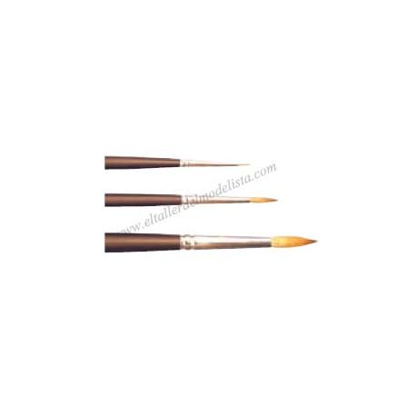 Kolinsky sable brush Nº 4/0. VALLEJO 18040