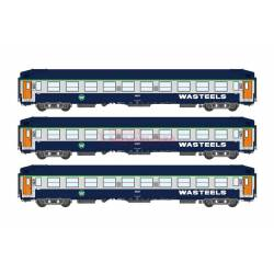 3-set of berth coaches UIC, WASTEELS. REE MODELES VB-193