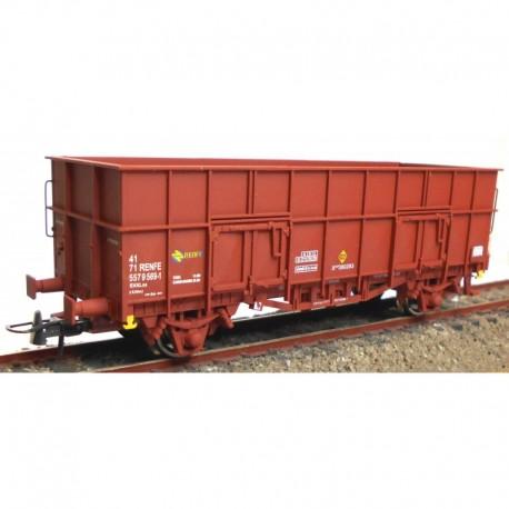 """Vagón abierto """"X3"""" rojo óxido, RENFE. KTRAIN 0701Q"""