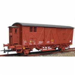 Vagón cerrado con garita baja. KTRAIN 0702I