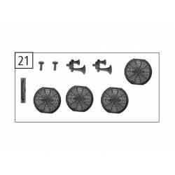 Set de piezas de techo, RENFE 333. ROCO 124558