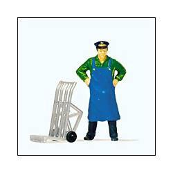 Hombre de servicio.