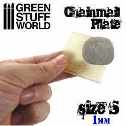 Placa texturizada: Cota malla, talla S. GREEN STUFF 368723