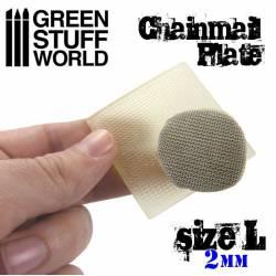 Placa texturizada: Cota malla, talla L. GREEN STUFF 368716