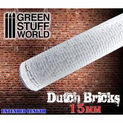 Rolling pin small dutch bricks. GREEN STUFF WORLD 363360